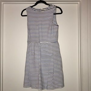 J crew white and blue dress